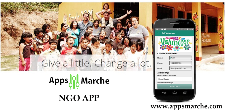 ngo mobile app for nonprofit organization,best ngo mobile app,popular ngo mobile app