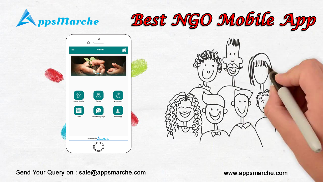 best ngo mobile app by appsmarche, ngo mobile app, nonprofit mobile app, ngo management system, ngo management mobile app, mobile app builder, best customized mobile apps, best app builder