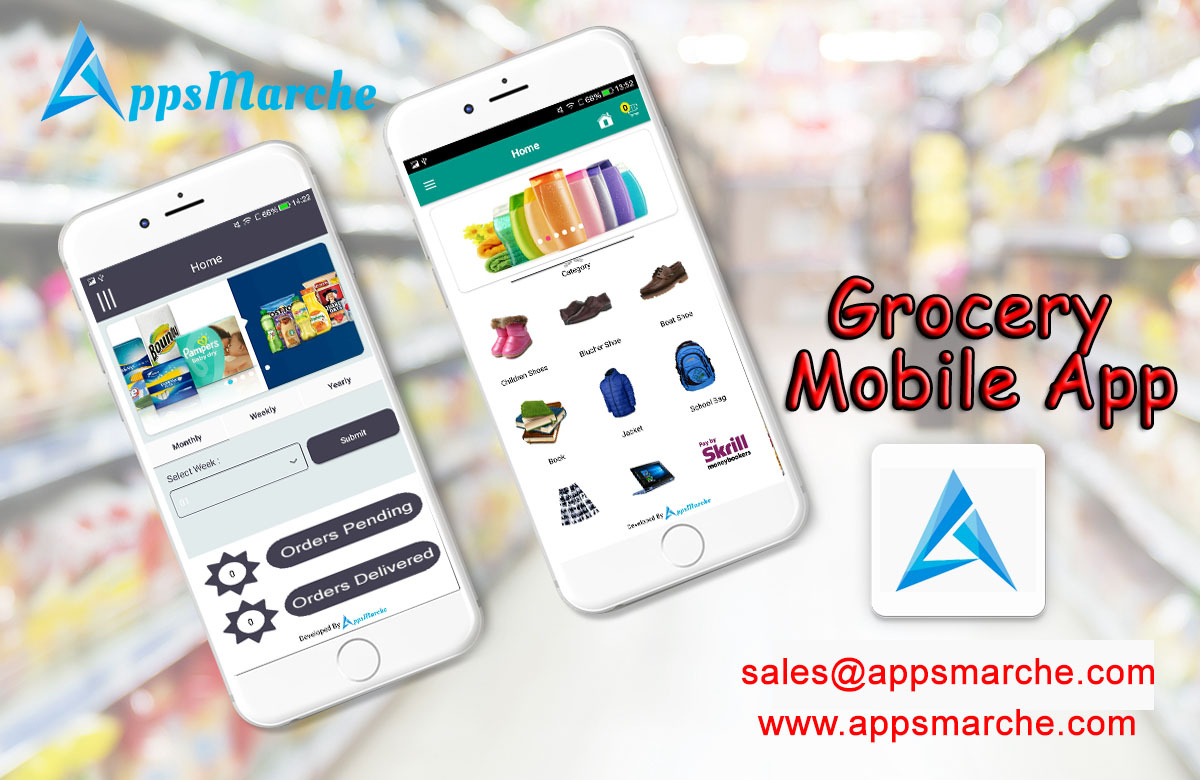 Necessity of Grocery Mobile App to Your Business,retail management mobile app, retail business mobile app, grocery mobile app, retail management app, app creator, mobile app creator, online apps market, apps market, marche online