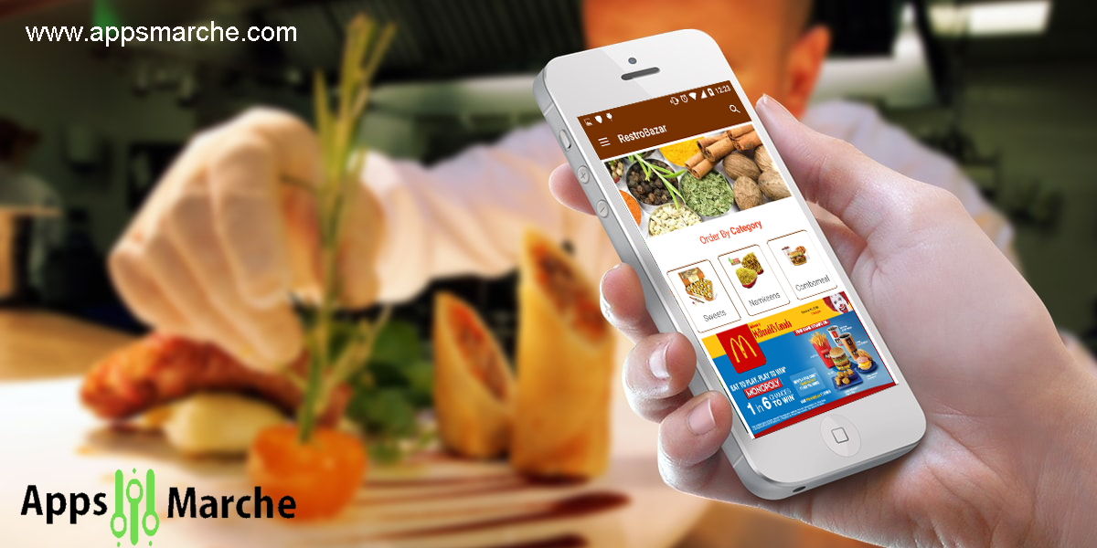 use restaurant business mobile app to increase your business,restaurant mobile app, app builder, appsmarche