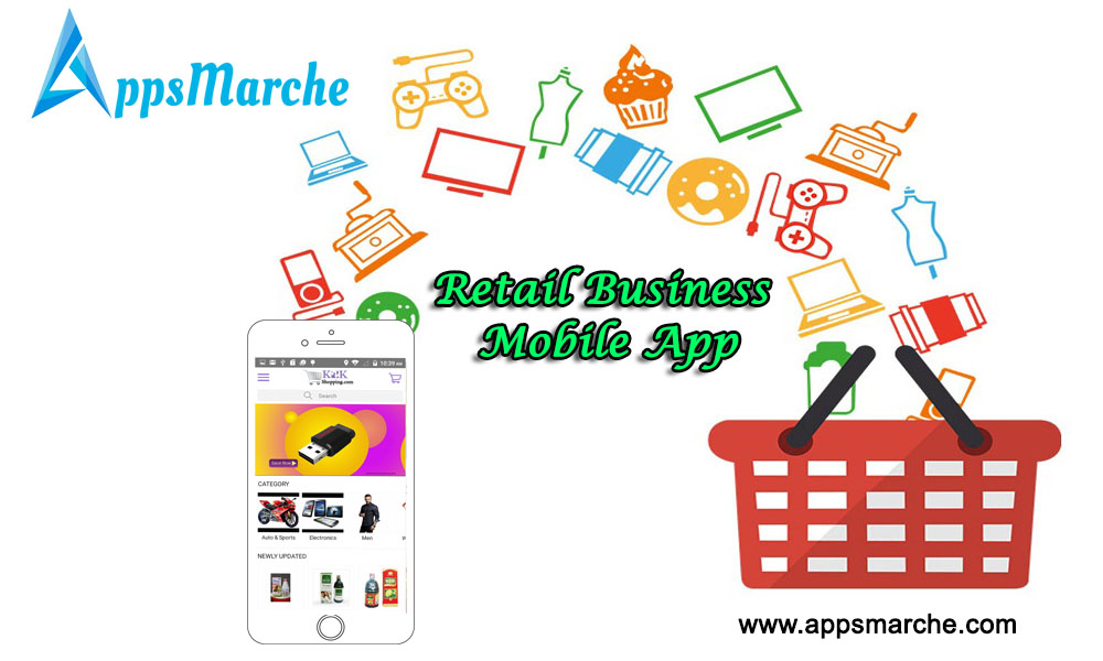 retail business mobile app from appsmarche, retail management mobile app, retailer mobile app, grocery mobile app, retail management app, app builder, mobile app builder, online apps market, apps market, marche online